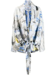 Chalayan Printed Jacket Blue