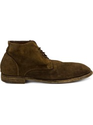 Guidi Lace Up Ankle Boots Brown