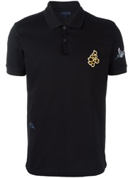 Lanvin Embroidered Detail Polo Shirt Black
