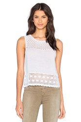 Central Park West Crochet Tank White