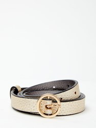 Boden Classic Skinny Leather Belt Gold