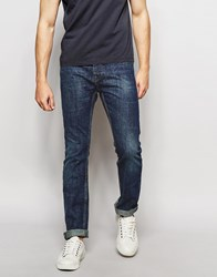Bellfield Vintage Stone Wash Slim Fit Jeans Blue