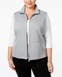 Karen Scott Plus Size Quilted Vest Only At Macy's Smoke Grey Heather