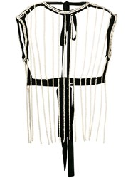 Christopher Kane Pearl Cage Top Neutrals