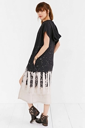 Silence And Noise Silence Noise Bleached Duster Cardigan Black