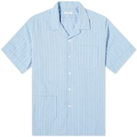 Engineered Garments Stripe Camp Shirt Blue