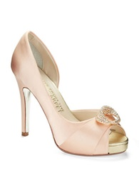 Elive From The Red Carpet Sara Satin Pumps Peach Satin
