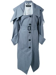 Burberry Belted Trench Coat Women Cotton Cupro Viscose 8 Grey