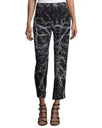 Haute Hippie Mid Rise Cropped Trousers Black Swan Women's Size 2
