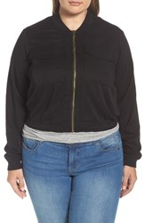Rachel Roy Plus Size Women's Drawstring Hem Bomber Jacket