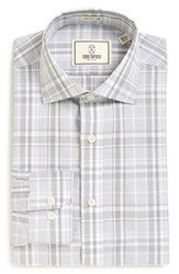 Men's Todd Snyder White Label Trim Fit Plaid Dress Shirt Grey