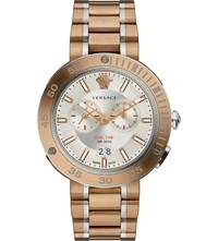 Versace V Extreme Bronze Ip Stainless Steel Watch