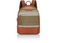 Want Les Essentiels Kastrup Canvas Backpack Tan Stripe