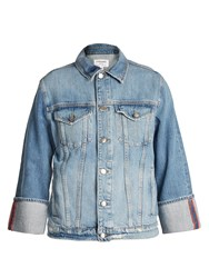 Frame Reverse Cuff Denim Jacket Mid Blue