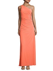 Laundry By Shelli Segal Beaded One Shoulder Dress Fresh Salmon