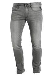Replay Anbass Slim Fit Jeans Olive Grey Denim
