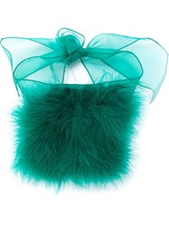 Sonia Rykiel Feather Down Bracelet Green
