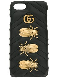 Gucci Animal Studs Iphone 6 7 Case Leather Black