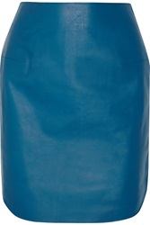 Richard Nicoll Leather Mini Skirt Blue