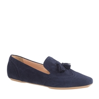 J.Crew Georgie Suede Tassel Loafers Authentic Navy