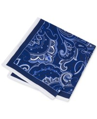 Club Room Men's Paisley Pocket Square Only At Macy's Navy