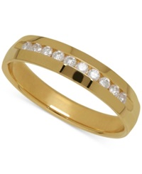 Macy's Men's Diamond Band In 14K Yellow Gold 1 4 Ct. T.W.