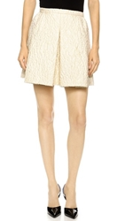 Giambattista Valli Pleated Miniskirt Ivory
