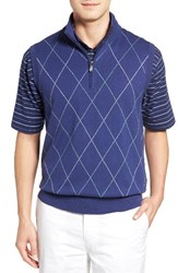Bobby Jones Men's Argyle Quarter Zip Sweater Vest