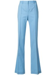 Versace Flared Tailored Trousers Blue