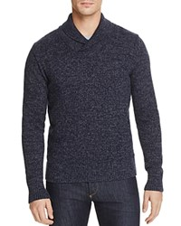 Todd Snyder Marled Shawl Collar Sweater Navy
