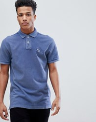 588eebd8d Abercrombie And Fitch Throwback Core Washed Out Polo Moose Icon Logo In  Medium Blue Medium Blue