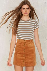 So Cord Rn Corduroy Skirt Brown