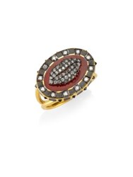 Holly Dyment Diamonds And 18K Yellow Gold Glam Lip Ring Multi