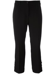 Dolce And Gabbana Cropped Trousers Black