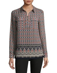 Jones New York Printed Tunic Grey
