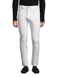 Versace Solid Regular Fit Jeans White
