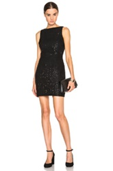 Saint Laurent Fitted Punk Dentelle Lace Dress In Black Metallics