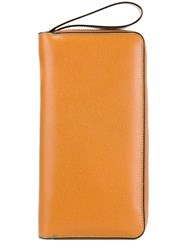 Valextra All In One Document Holder Yellow And Orange