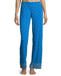 Cosabella Jolene Printed Lounge Pants Atlantic Blueprint Women's Size Large Black Print