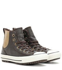 Converse Ctas Leather Chelsea Boots Brown