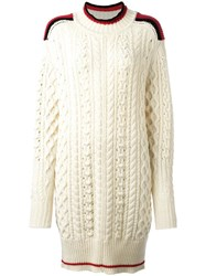 Isabel Marant Cable Knit Jumper White