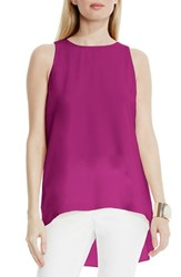 Vince Camuto Women's High Low A Line Blouse Plum Tart