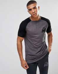 Kings Will Dream Muscle T Shirt In Grey Suedette