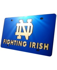 Stockdale Notre Dame Fighting Irish License Plate Blue