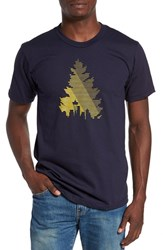 Casual Industrees Men's 'Johnny Tree Lines' Graphic T Shirt Navy Blue
