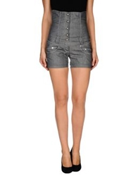 One Seven Two Denim Shorts Grey