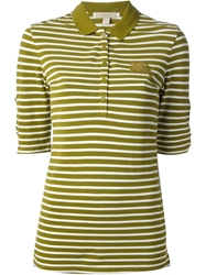 Burberry Brit Striped Polo Shirt Green
