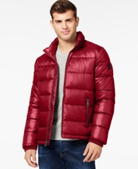 Guess Basic Puffer Jacket Red