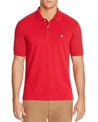 Brooks Brothers Slim Fit Pique Polo Shirt Red