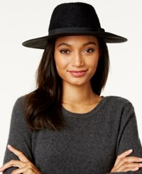 Inc International Concepts Mixed Media Panama Hat Only At Macy's Black